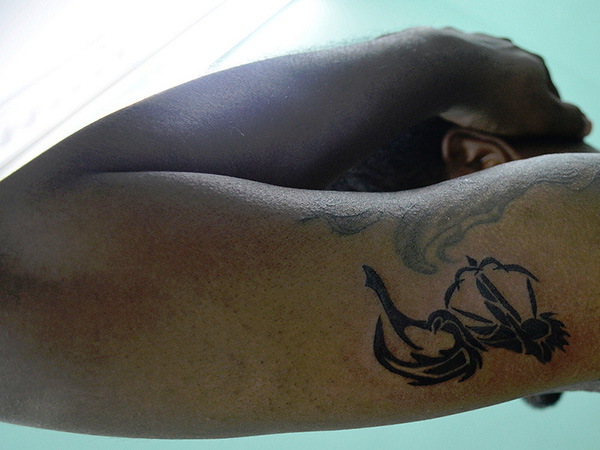 Black Sagittarius Tattoo