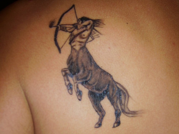 Sagittarius Back Tattoo