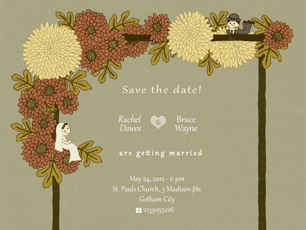 nice flower 31 Lovely Save The Date Templates