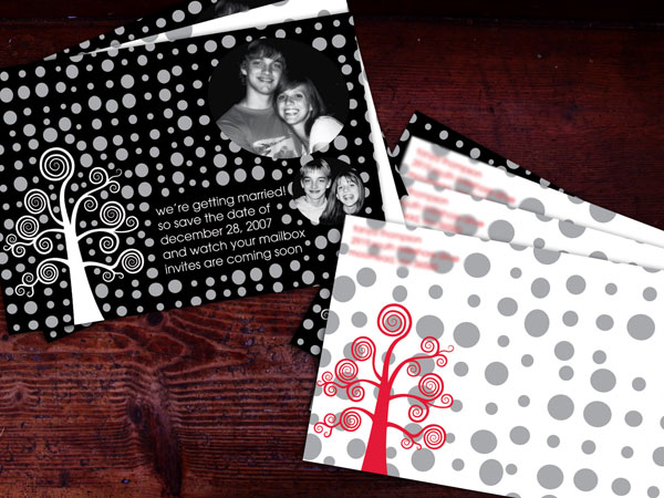 silver dots 31 Lovely Save The Date Templates