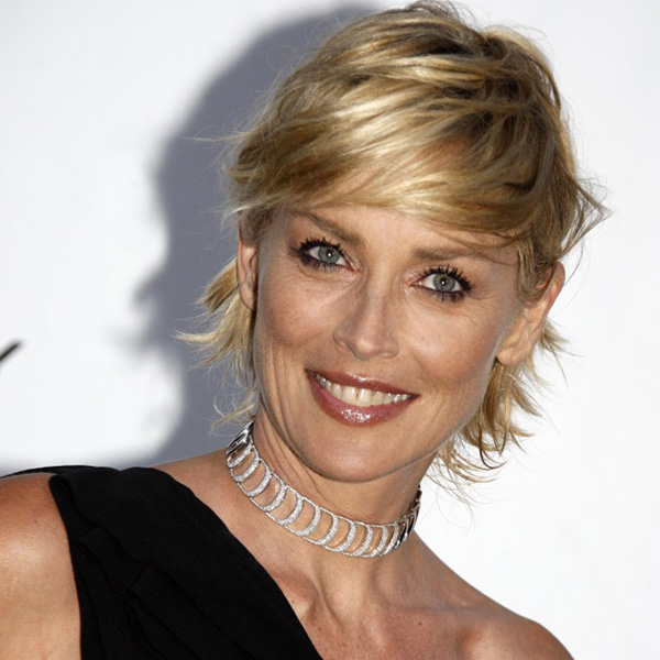 Sharon Stone Short Hair Styles With Photos