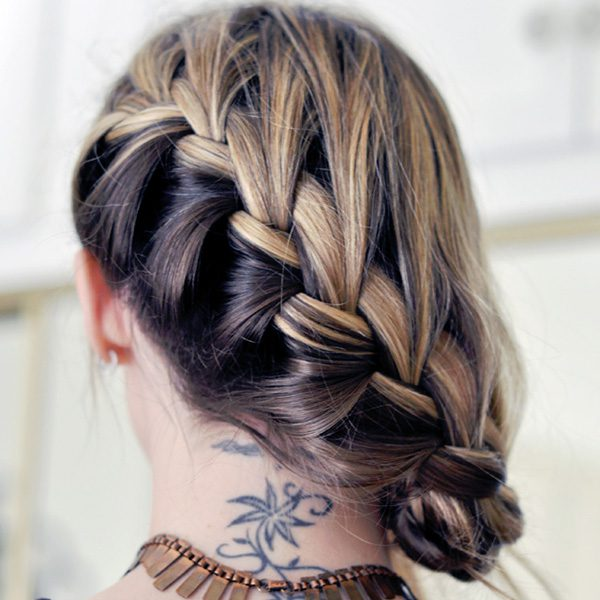 26 Graceful Reverse French Braid Styles Slodive