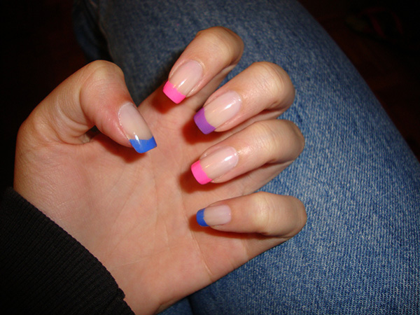 inglesinhas coloridas 29 Enthusiastic Simple Nail Art Ideas