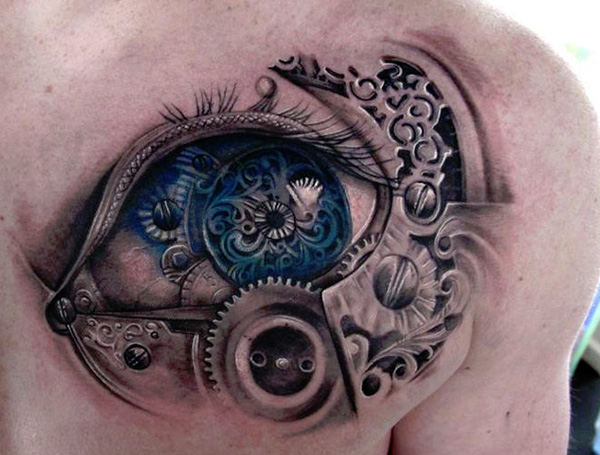 enchanting steampunk tattoo 27 Incredible Steampunk Tattoo Idea Collection