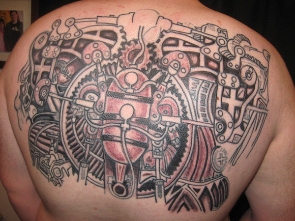 steampunk back 27 Incredible Steampunk Tattoo Idea Collection