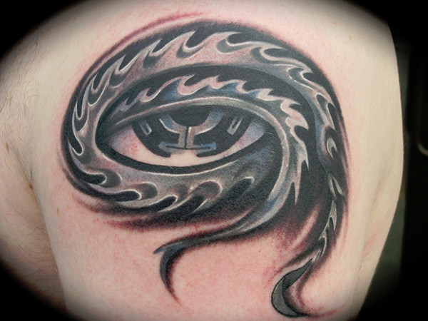 tool eye 27 Incredible Steampunk Tattoo Idea Collection