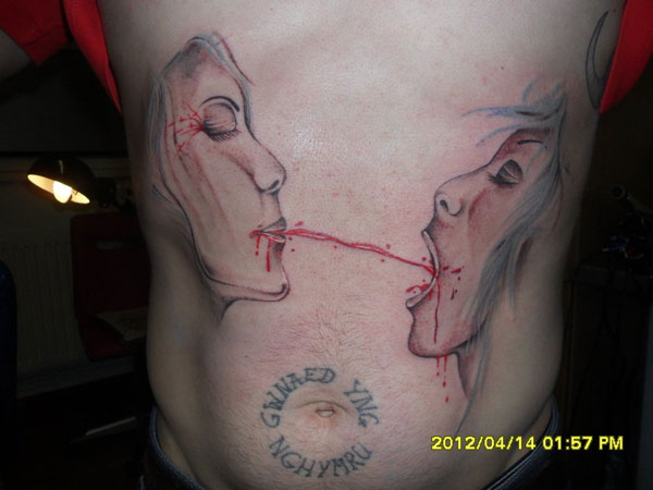 gothic 26 Original Stomach Tattoos For Men