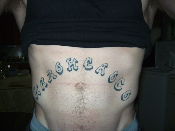 hardhead 26 Original Stomach Tattoos For Men