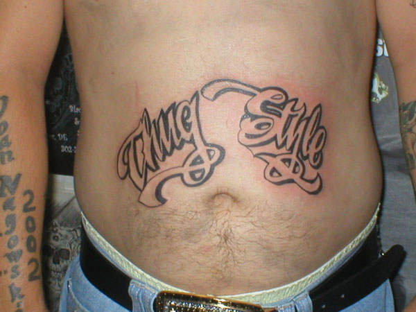 thug 26 Original Stomach Tattoos For Men