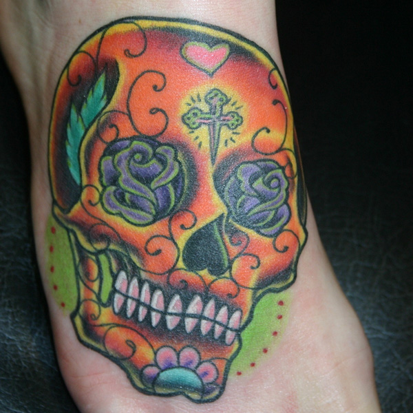 Skull With Flower Eyes Tattoo Meaning Flowers Healthy