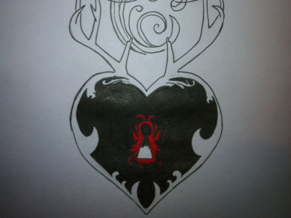 Heart Locket Drawing