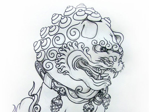 Chinese Tattoo Drawing