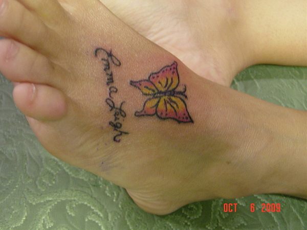 Foot Name Tattoo