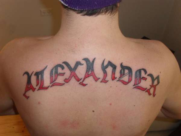 Son's Name Tattoo