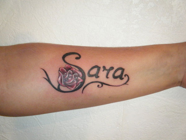 Red Rose Sara Tattoo