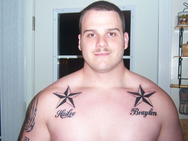 Star Tattoo With Name