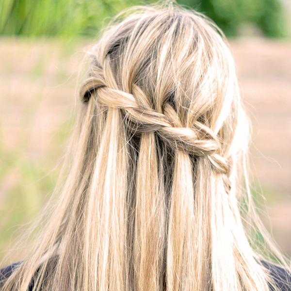 26 sweet waterfall french braid hairstyles slodive partial french braid ccuart Gallery
