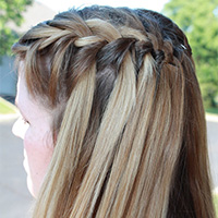 26 Sweet Waterfall French Braid Hairstyles