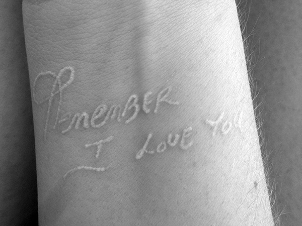 mothers handwriting 23 Fierce White Ink Tattoos On Black People