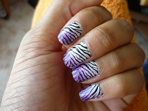 Zebra Design With Purple Gradient