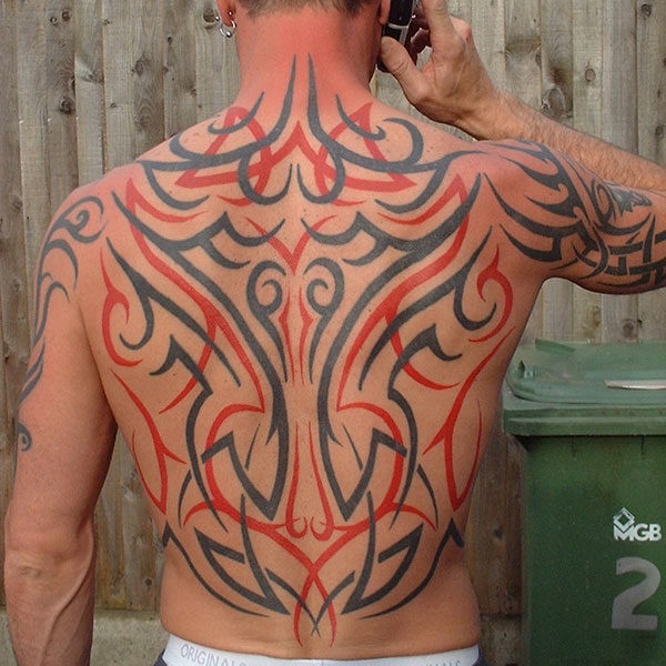 Black And Red Tribal Design