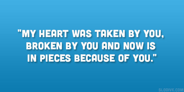 My heart was taken by ...