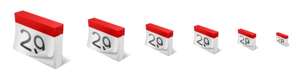 Red Folded Paper Calendar Icon