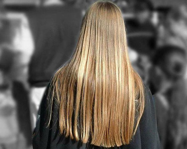 Golden Long Hairstyle