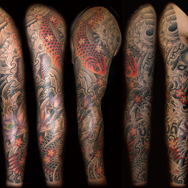 1e4874228173b Angels And Demons Sleeve Tattoo - Acharyajpsingh