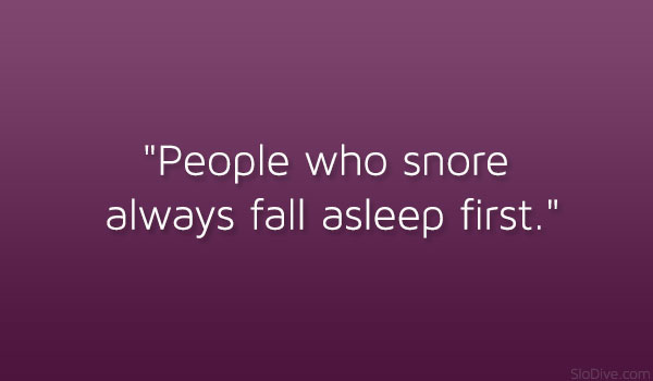 Who Snore