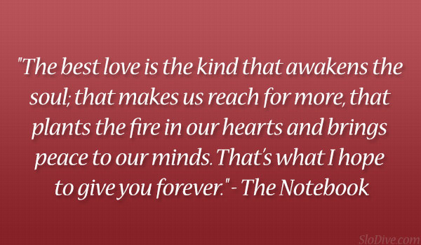 Love Quotes From The Notebook of fall in love with them