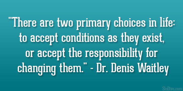 Denis Waitley Quotes Responsibility