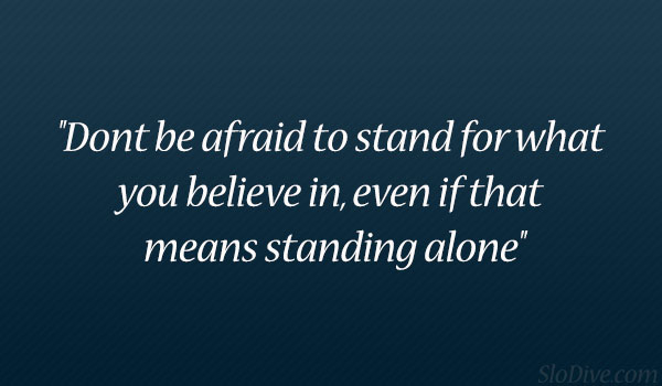 Afraid To Stand