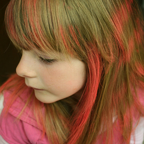 Colorful Bangs