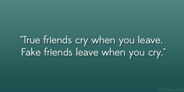 True Friends Cry