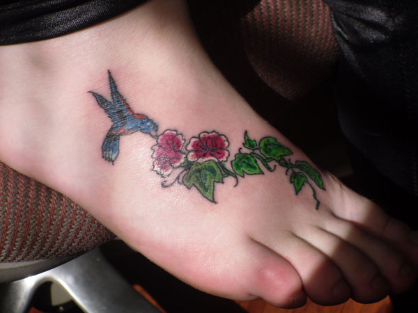 Flying Flowers Tattoo