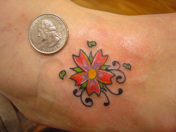 Flower Vibrance Tattoo
