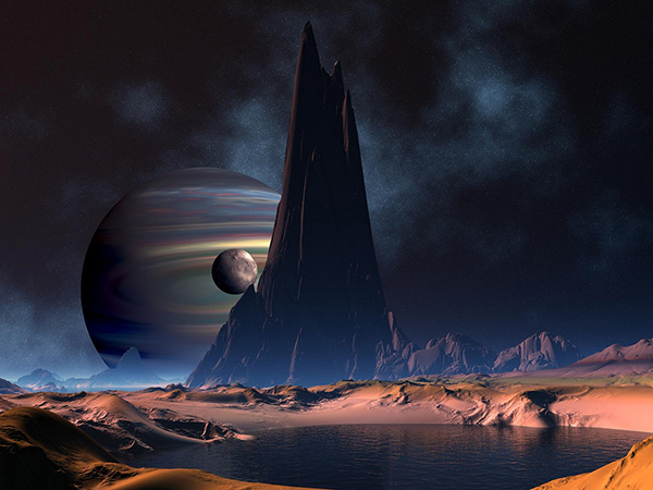 Unknown Planet Space Background