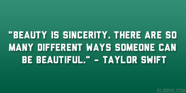 Beauty Is Sincerity