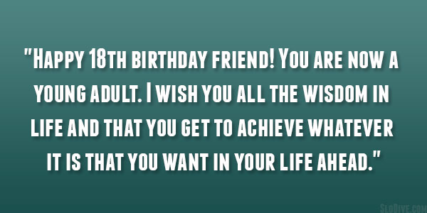 18th birthday quotes life