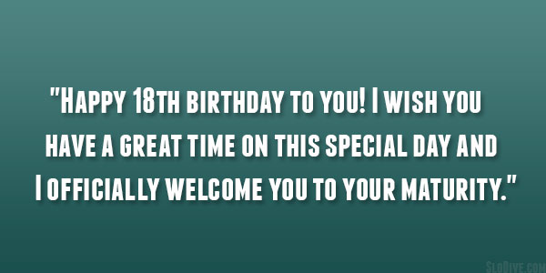 Birthday quotes poetic for 18th birthday this special day m4hsunfo