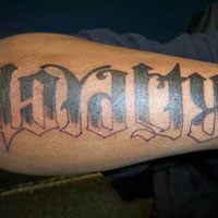 24 Decorative Ambigram Tattoos For 2013