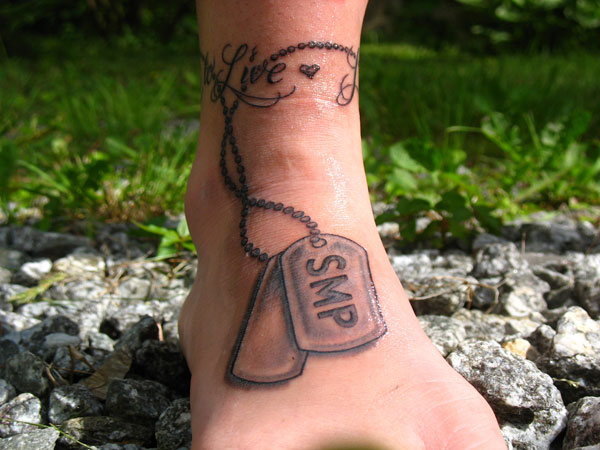 Memorial Ankle Tattoo