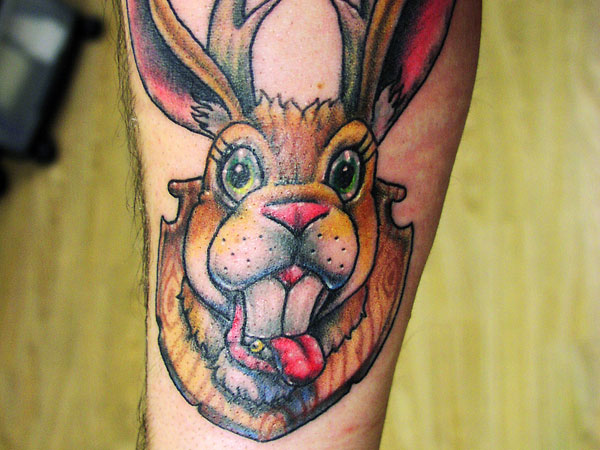 Mounted Rabbit Tattoo