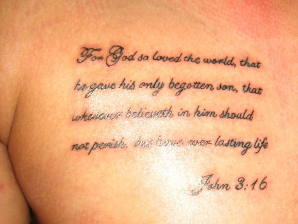 nice 26 Poetic Bible Verse Tattoos For 2013