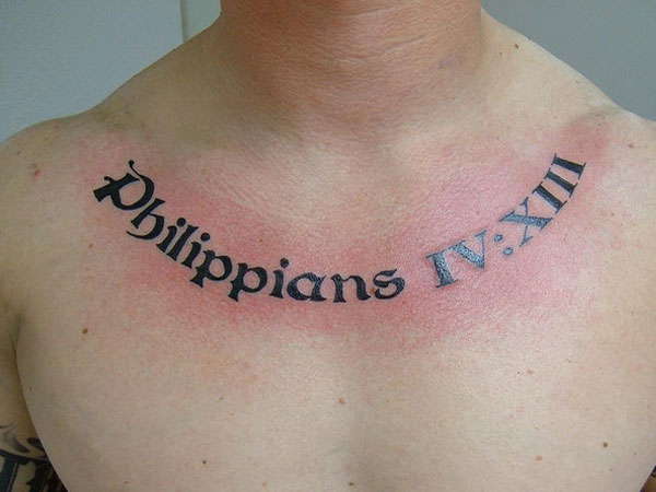 phillipianse 26 Poetic Bible Verse Tattoos For 2013