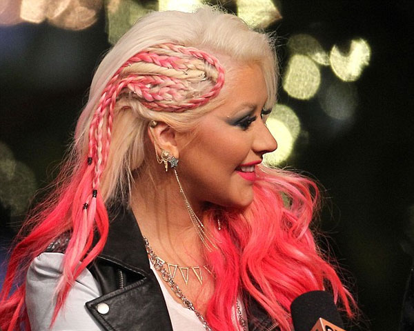 Red Juicy Party Hair Idea