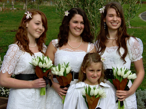 A Bridesmaid's Hairstyle
