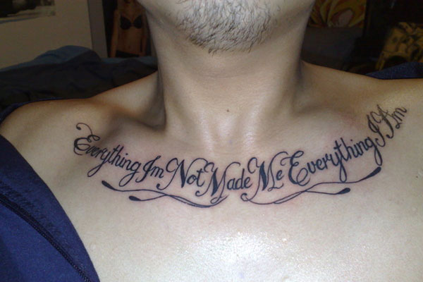Chest Tattoo Qoutes 28 Intriguing Collections Browse Slodive