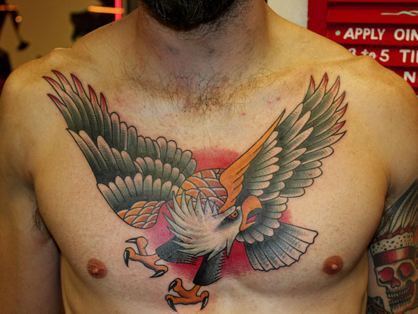 bird 37 Exceptional Chest Tattoos For Men